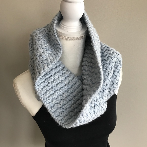 ff38a1c83f1 GAP Accessories | Light Blue Cable Knit Infinity Scarf Snood | Poshmark